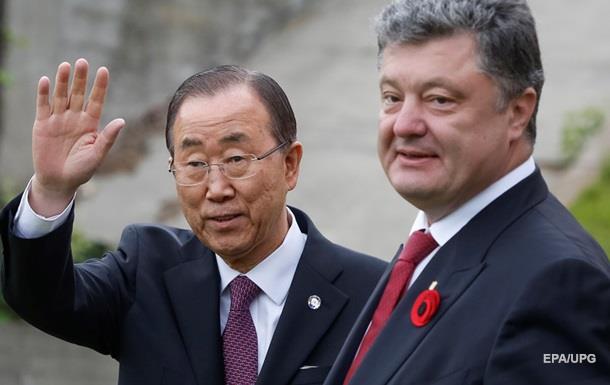 Порошенко пригласил Пан Ги Муна на годовщину Чернобыльской катастрофы