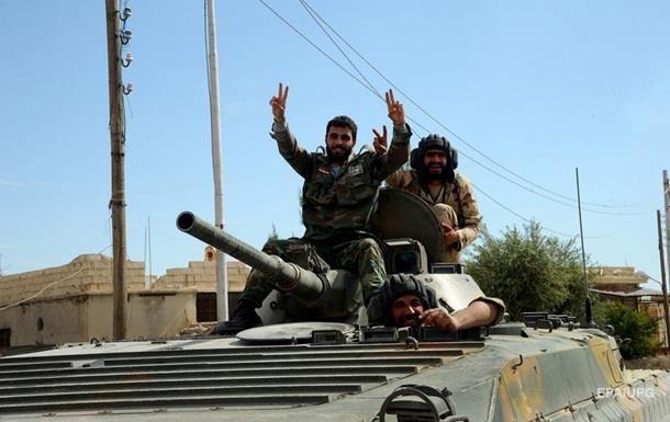 Сирийские войска вошли в город Эль-Карьятейн