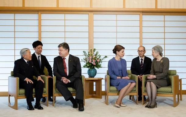Порошенко пригласил Императора Японии посетить Украину