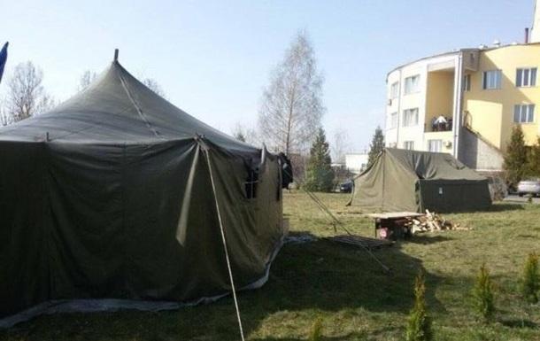 На волынской таможне протестующие разбили палатки