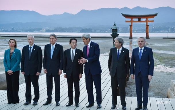 G7 призывает к мирному урегулированию ситуации в Украине