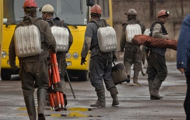 Обвал шахт в Донецкой области