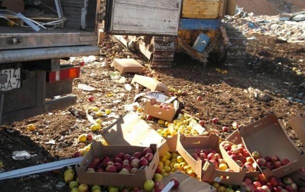 В России уничтожили 22 тонны украинских яблок