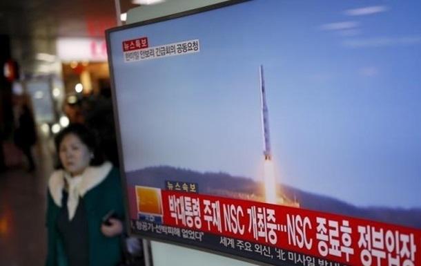 США отследили неудачный пуск ракеты КНДР