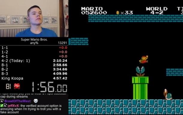 Американец установил рекорд по прохождению Mario