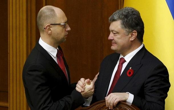 Рейтинги Порошенка і Яценюка впали до мінімуму