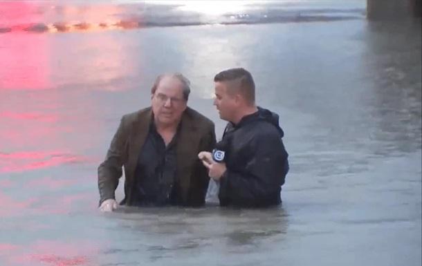 Американский журналист спас человека в прямом эфире