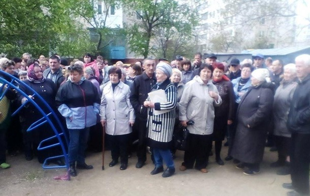 В Мариуполе митинг против переименования проспекта Жукова в Героев АТО