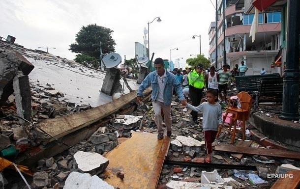 Землетрясение в Эквадоре: жертв уже почти 650