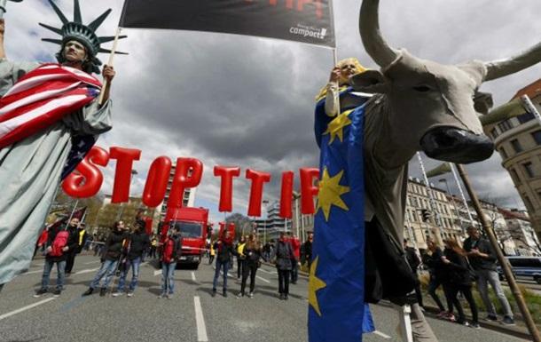 В Германии протестуют против зоны свободной торговли с США