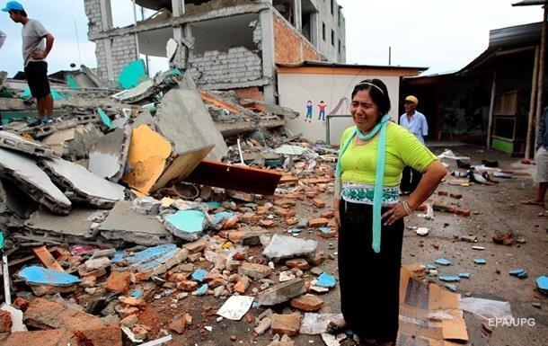 В Эквадоре объявлен восьмидневный траур в связи с землетрясением