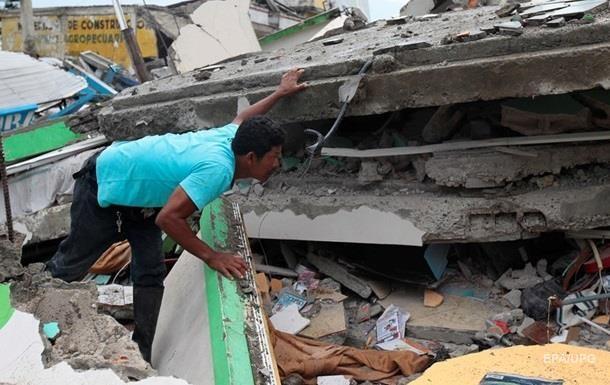 Землетрус в Еквадорі: кількість жертв досягла 655