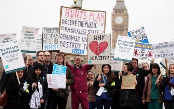 В Британии из-за забастовки врачей отменены более 100 тысяч операций