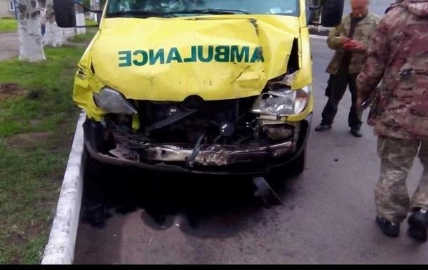 На Донетчине  скорая  попала в ДТП: четверо пострадавших