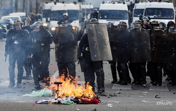 Первомайский марш в Париже вылился в стычки с полицией