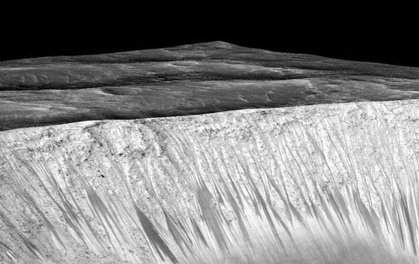 Следы кипящей воды на Марсе