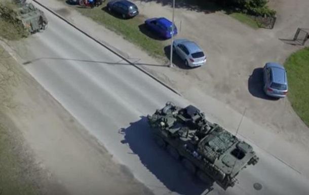 Учения НАТО на границе с Россией сняли с коптера