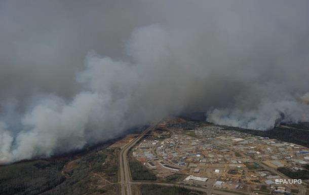Площадь лесных пожаров в Канаде увеличилась