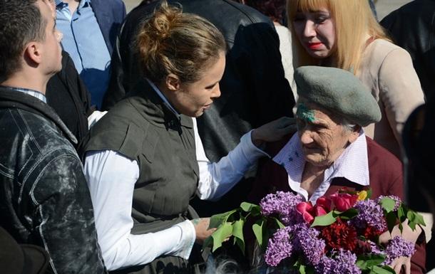 В Славянске облили зеленкой героя ВОВ