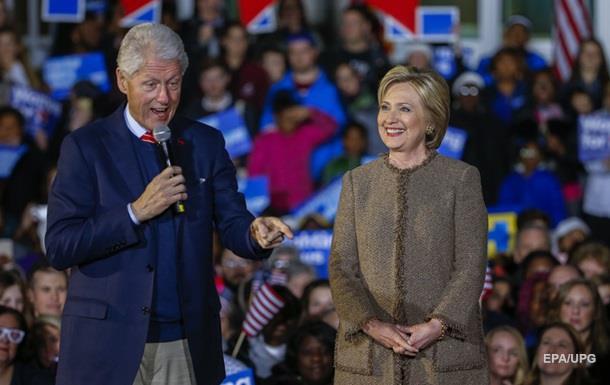 Клинтон пообещала работу мужу в случае победы