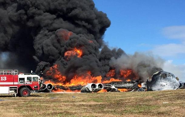 Американский бомбардировщик упал на базе США на острове Гуам