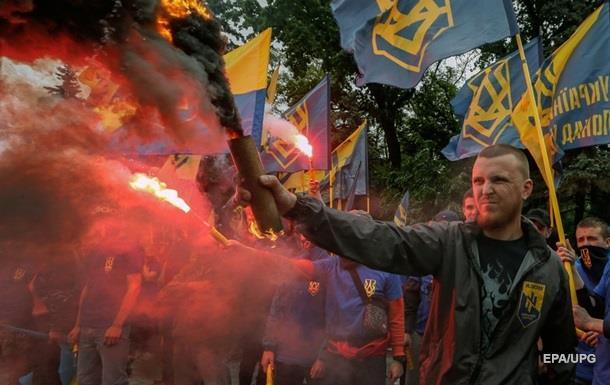 Митинг Азова в Киеве