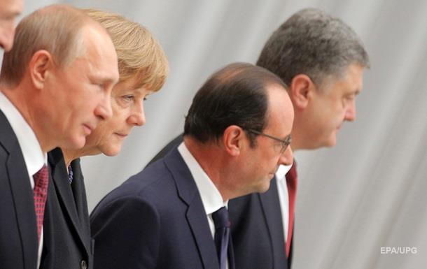 Лидеры  нормандской четверки  подтвердили приверженность  Минску-2