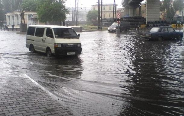 Одессу затопил сильный ливень