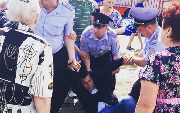В Алуште задержали протестующих против застройки