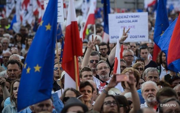 В Польше прошел антиправительственный митинг