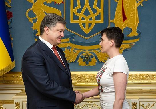 Порошенко высказал Савченко свою позицию по переговорам с боевиками