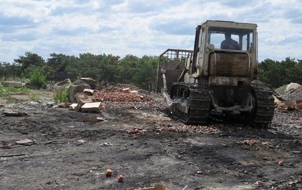 В Крыму уничтожили более 15 тонн фруктов из Польши и Испании