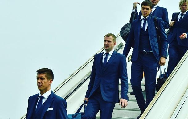 Сборная Украины прибыла в Лилль на первый матч Евро-2016