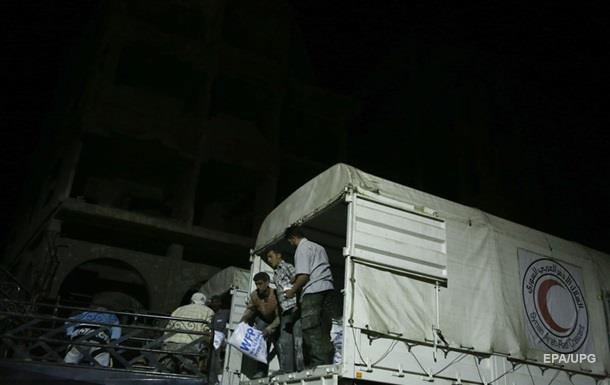 Россия доставила свыше четырех тонн гумпомощи в Сирию