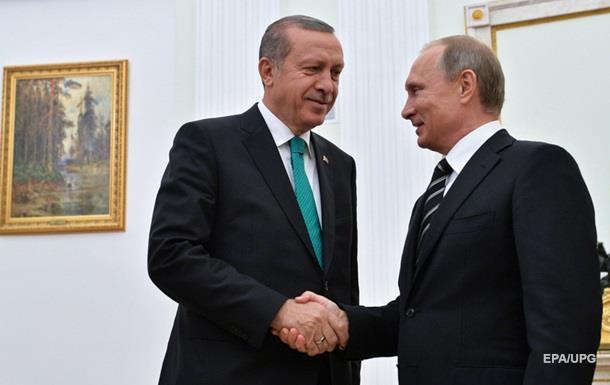 Эрдоган направил Путину поздравительное письмо