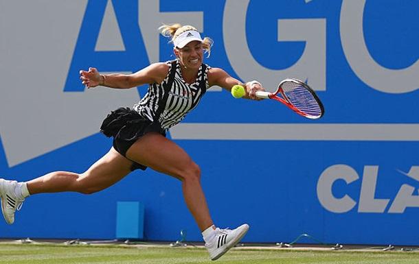 Бирмингем (WTA). Кербер и Квитова вышли во второй круг, Свитолина доиграет завтра