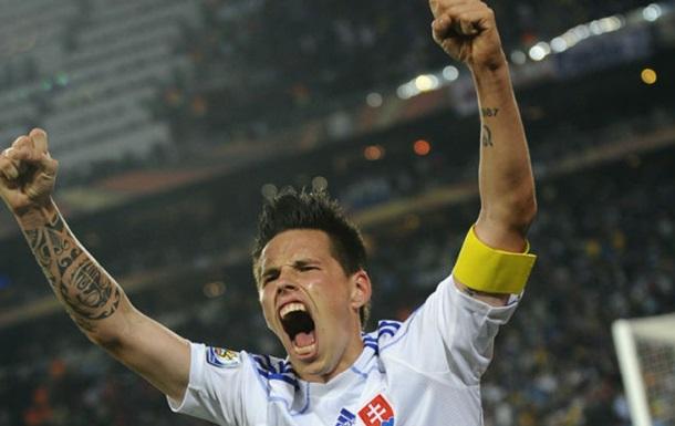 Хамшик - лучший игрок матча Россия - Словакия