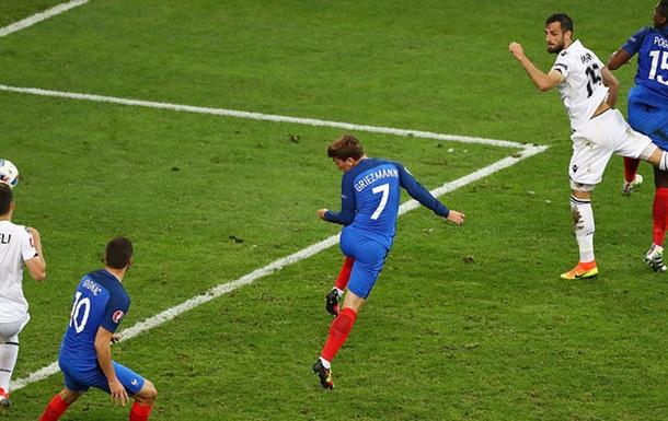 Франция вырывает победу у Албании и первой выходит в плей-офф Евро-2016