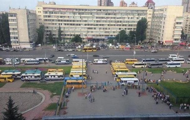 В Киеве протестуют автоперевозчики