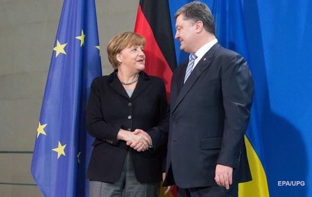 Порошенко обсудил с Меркель минский процесс