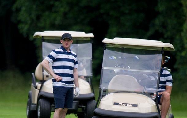 Руни сыграл в гольф с партнерами по сборной