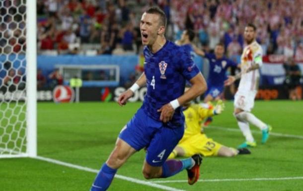 Перишич покрасил волосы в цвета национального флага Хорватии