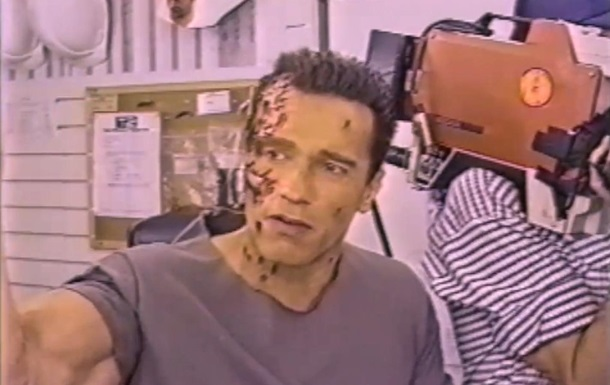 Шварценеггер показал съемки  Терминатора 2