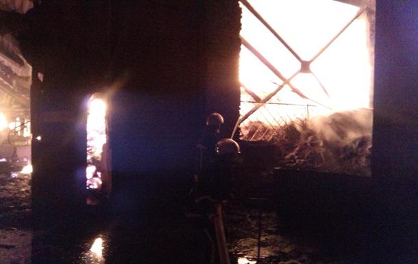 В Черкасской области горел машиностроительный завод