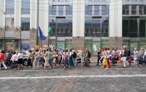 Митингующие в Киеве перекрыли улицу Грушевского