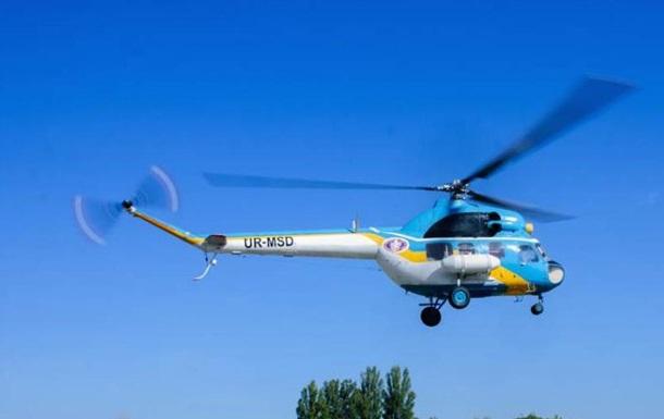 В Сумской области упал вертолет