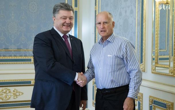 Губернатор Калифорнии пригласил Порошенко в гости