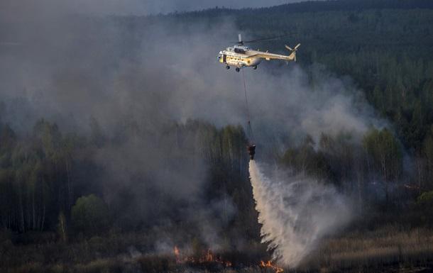 Пожар в Зоне отчуждения: задействована авиация