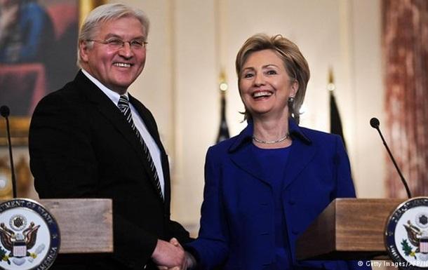 Глава МИД Германии надеется на победу Клинтон на выборах