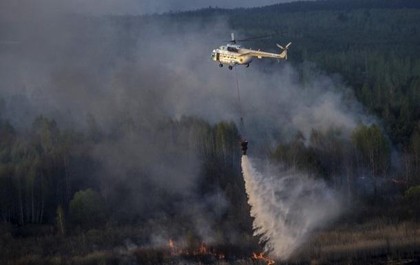 ГСЧС отчиталась о состоянии пожара в Чернобыльской зоне